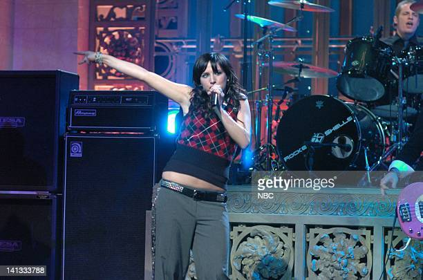LIVE Episode 3 Air Date Pictured Musical guest Ashlee Simpson performs on October 23 2004 Photo by Dana Edelson/NBCU Photo Bank
