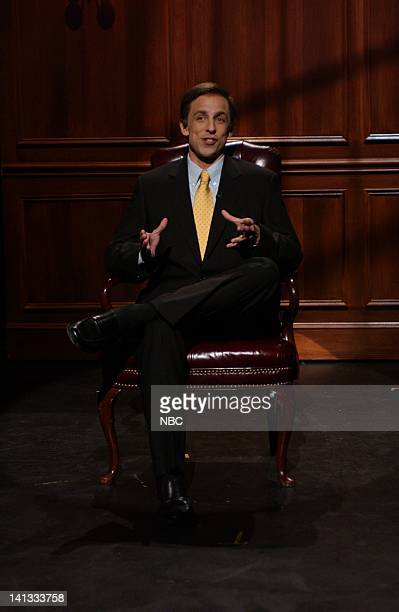 LIVE Episode 3 Air Date Pictured Seth Meyers as Ed Gillespie during the Hardball skit on October 23 2004 Photo by Dana Edelson/NBCU Photo Bank