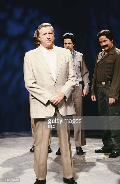 Chris Rock as Idi Amin George Steinbrenner Dana Carvey as Pol Pot Kevin Nealon as Saddam Hussein during the 'Ultra SlimFast' skit on October 20 1990...