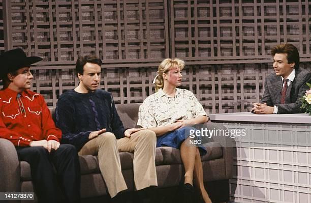 Phil Hartman as AJ Tacks Clammer Kevin Nealon as Rod Camacho Victoria Jackson as Monica Clayborne Mike Myers as host during the 'Slapped By Beaver...