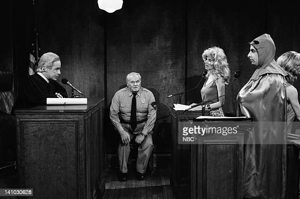 Phil Hartman as Joseph Wapner Andy Murphy as Bailiff Rosanna Arquette as Vonda Braithwaite Jon Lovitz as Mephistopheles during 'The People's Court'...