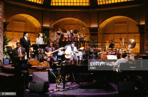 The Tonight Show Band Band leader Branford Marsalis Sal Marquez Matt Finders Bob Hurst Jeff 'Tain' Watts Kevin Eubanks Vicki Randle and Kenny...