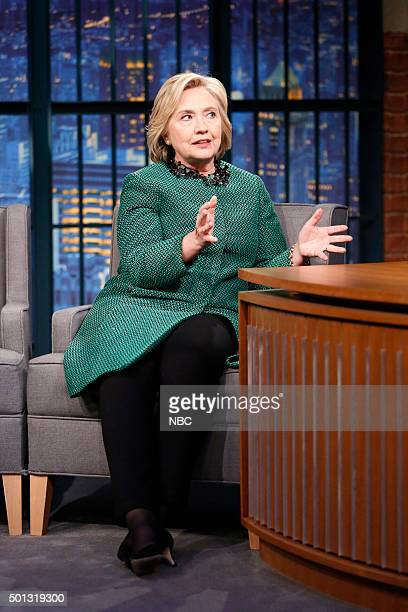 Presidential candidate Hillary Clinton during an interview on December 10 2015