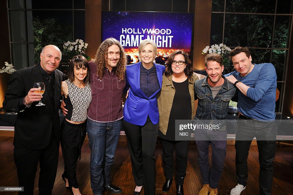 NIGHT -- '301' Episode 301 -- Pictured: (l-r) Kevin O'Leary, Constance Zimmer, 'Weird Al' Yankovic, Jane Lynch, Rosie O'Donnell, Nate Berkus, Rocco DiSpirito --