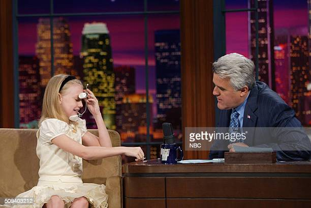 Actress Dakota Fanning during an interview with host Jay Leno on October 19 2005