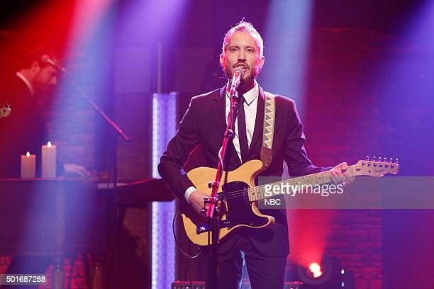 Trevor Terndrup of musical guest Moon Taxi performs on December 16 2015