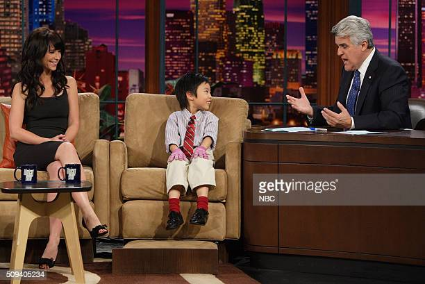 Actress Jennifer Love Hewitt and musical artist Marc Yu during an interview with host Jay Leno on November 4 2005