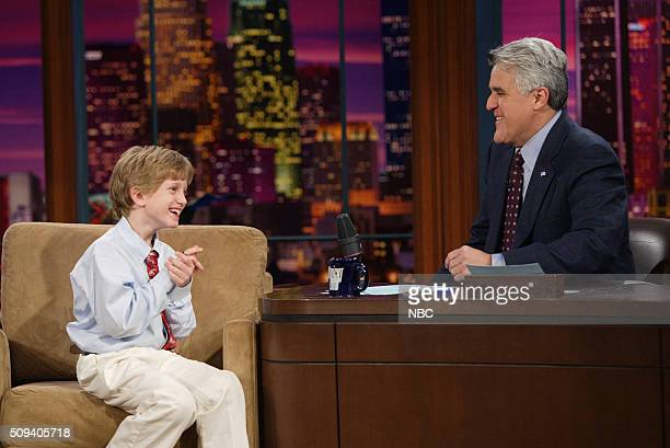 Activist Collin Kelly during an interview with host Jay Leno on November 11 2005