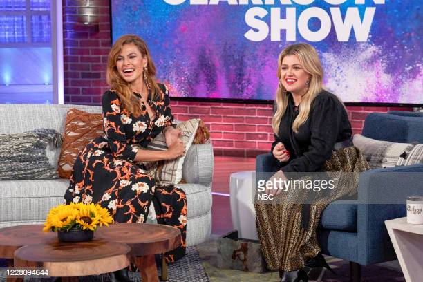 Episode 3037 -- Pictured: Eva Mendes, Kelly Clarkson --
