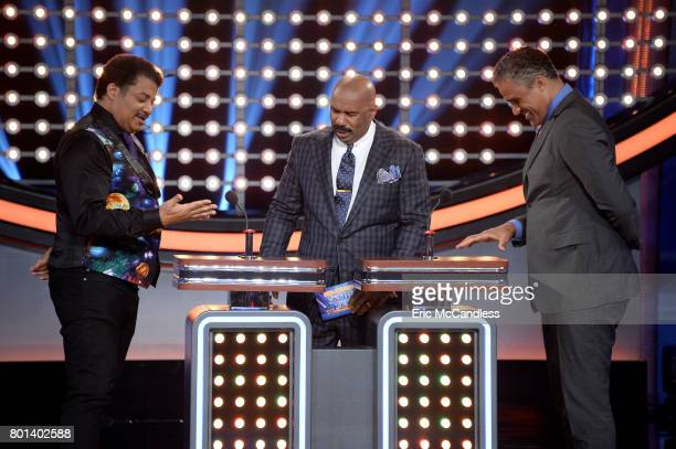 """Episode 304"""" - """"Neil deGrasse Tyson vs Rick Fox and Boy Band vs Girl Group""""- The celebrity teams competing to win cash for their charities features..."""