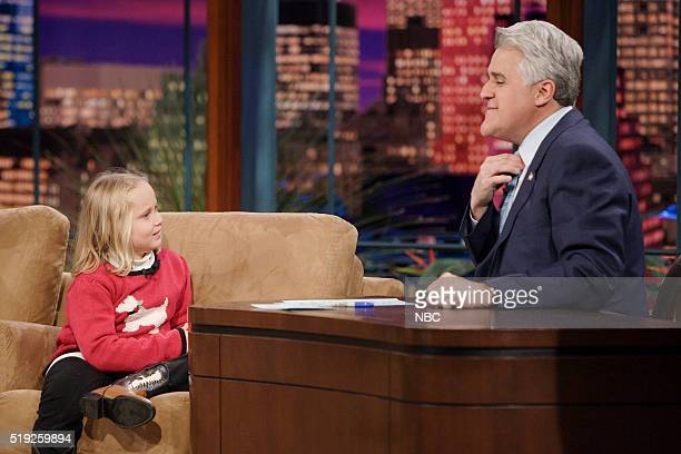 Actress Maria Lark during an interview with host Jay Leno on January 11 2006