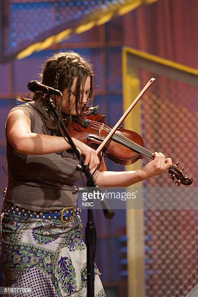Musician Sara Watkins of musical guest Nickel Creek performs on January 25 2006