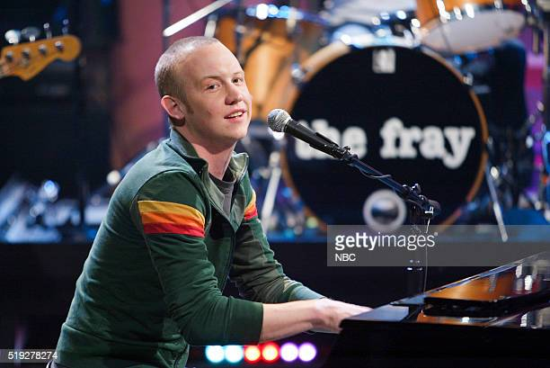 Musician Isaac Slade of musical guest The Fray performs on February 8 2006