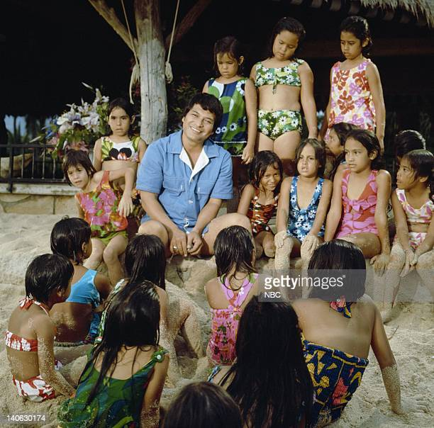 Don Ho with native Hawaiian children Photo by NBCU Photo Bank
