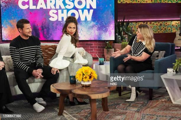 Episode 3110 -- Pictured: Nick Lachey, Vanessa Lachey, Kelly Clarkson --