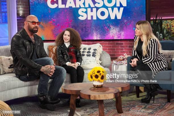 Dave Bautista Chloe Coleman Kelly Clarkson