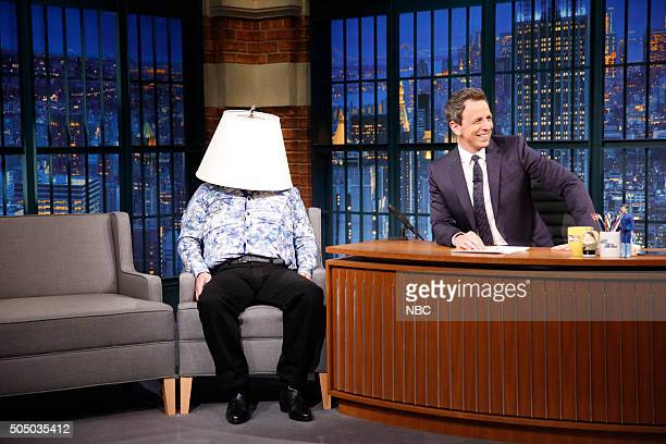Horatio Sanz as El Chapo and host Seth Meyers during a sketch on January 14 2016