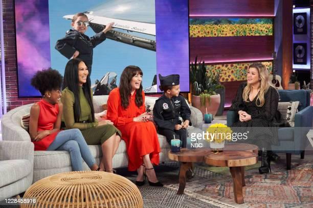 Episode 3121 -- Pictured: Skylar Johnson, Kimora Lee Simmons, Liv Tyler, Amelia Suell, Kelly Clarkson --