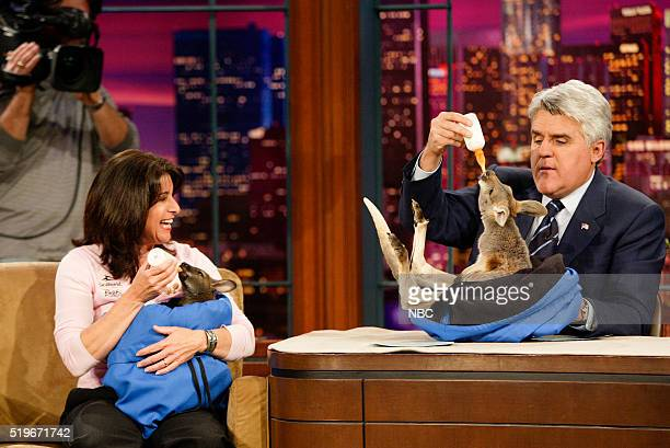 Animal expert Julia Scardina during an interview with host Jay Leno on April 14 2006