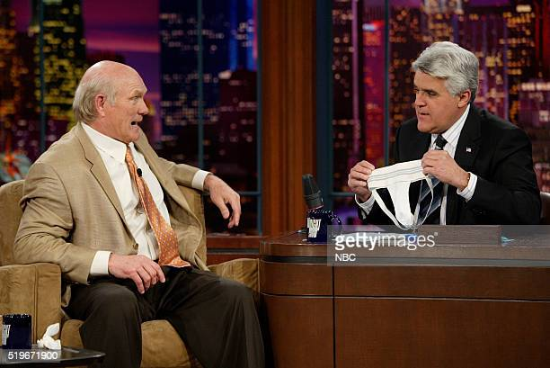 Football analyst Terry Bradshaw during an interview with host Jay Leno on April 17 2006