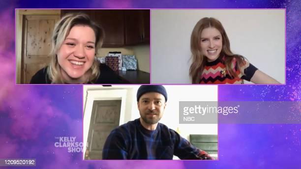 Episode 3129 -- Pictured: Kelly Clarkson, Justin Timberlake, Anna Kendrick --