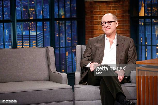Actor James Spader during an interview on January 19 2016