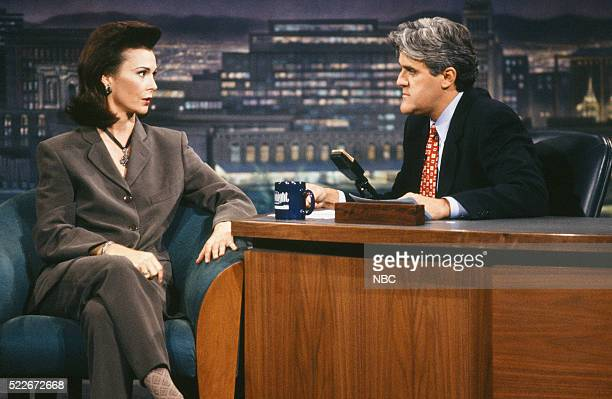 Actress Kate Jackson during an interview with host Jay Leno on September 29 1993