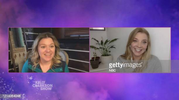 Episode 3139 -- Pictured in this screen grab: Kelly Clarkson, Natalie Dormer --
