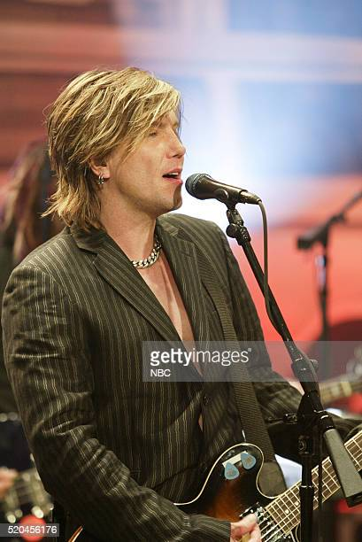 Musician Mike Malinin of musical guest Goo Goo Dolls performs on May 16 2006