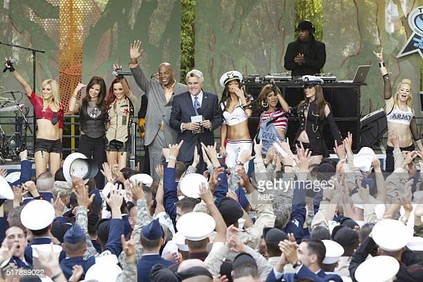 Musician Kimberly Wyatt actress Evangeline Lilly musician Carmit Bacher comedian Alonzo Bodden host Jay Leno and musicians Nicole Scherzinger Melody...