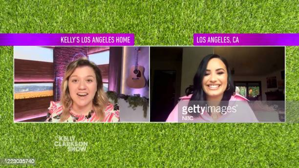 SHOW Episode 3153 Pictured in this screen grab Kelly Clarkson Demi Lovato