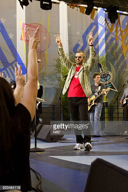 Musician Ringo Starr of musical guest Ringo Starr His AllStar Band performs on June 20 2006