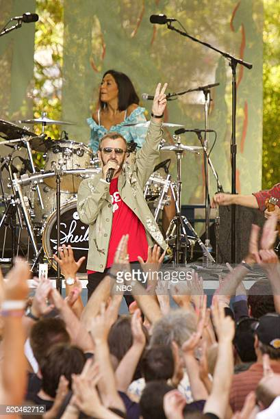 Musicians Ringo Starr and Sheila E of musical guest Ringo Starr His AllStar Band perform on June 20 2006