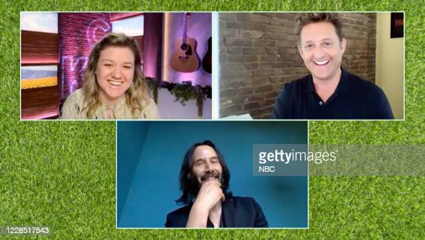 Episode 3171 -- Pictured in this screen grab: Kelly Clarkson, Keanu Reeves, Alex Winter --