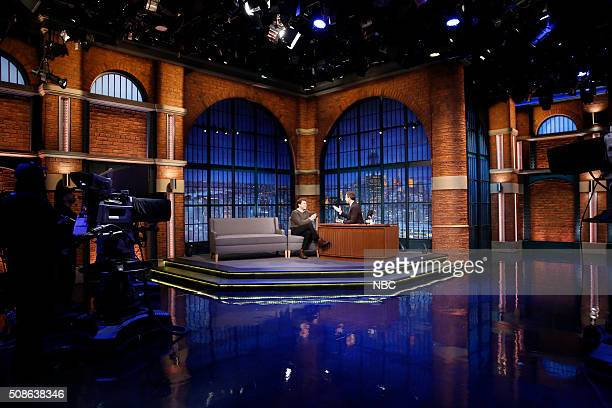 Actor Joshua Jackson during an interview with host Seth Meyers on February 5 2016