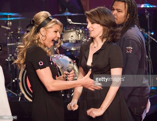 Musical guest Fergie and Tina Fey