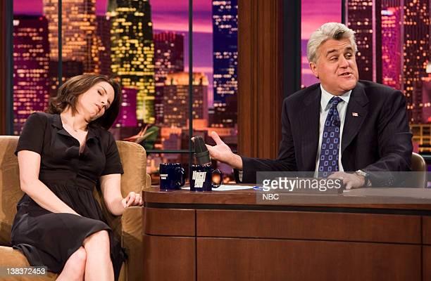 Tina Fey and Jay Leno