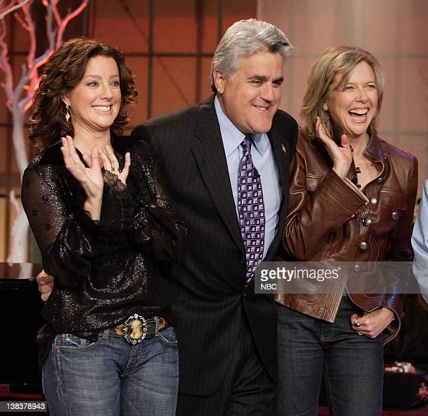 Singer Sara McLachlan host Jay Leno and actress Annette Bening on October 18 2006