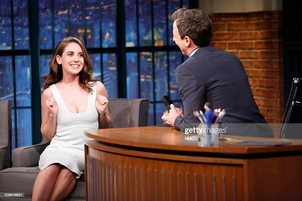 "NBC's ""Late Night With Seth Meyers"" With Guests Susan Sarandon, Allison Brie, Katie Nolan"