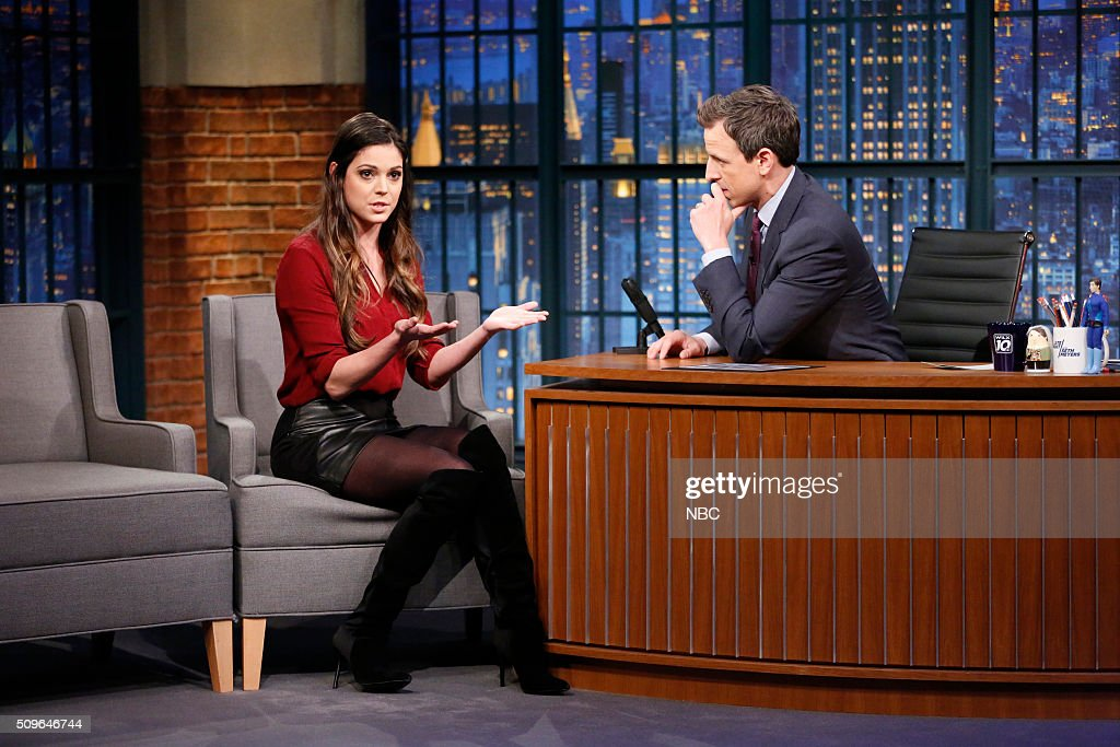 TV Personality Katie Nolan during an interview with host Seth Meyers on February 11, 2016 --