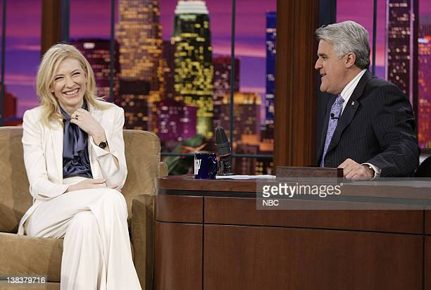 Actress Cate Blanchett during an interview with host Jay Leno on December 4 2006