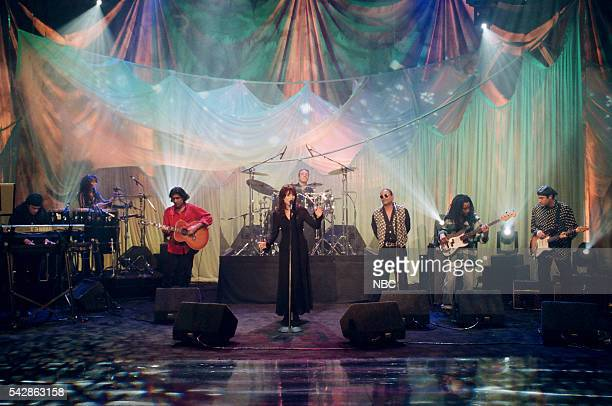Episode 327 -- Pictured: Musical guest Katey Sagal performs on October 26, 1993 --