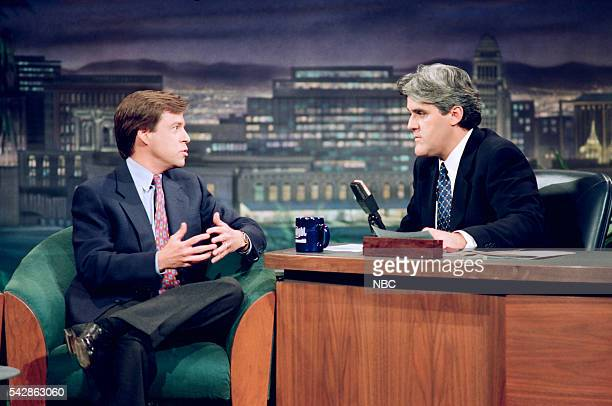 Episode 327 -- Pictured: Sportscaster Bob Costas during an interview with host Jay Leno on October 26, 1993 --