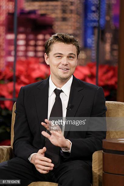 Actor Leonardo DiCaprio during an interview on December 14 2006