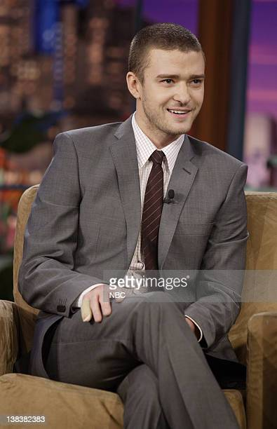 Singer Justin Timberlake during an interview on January 3 2007