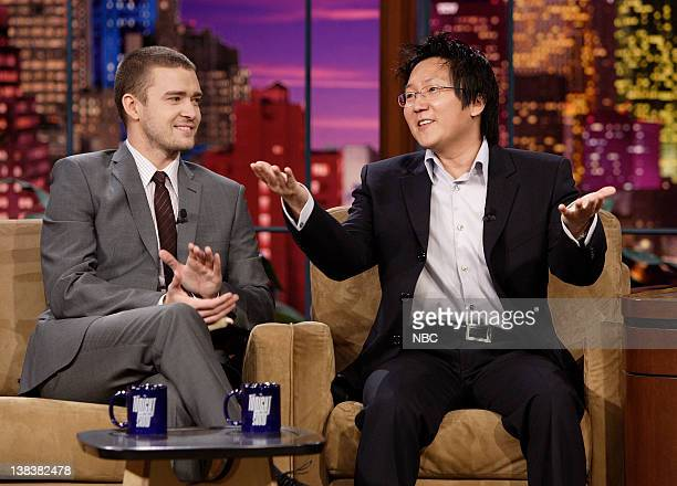 Singer/actor Justin Timberlake and actor Masi Oka during an interview on January 3 2007