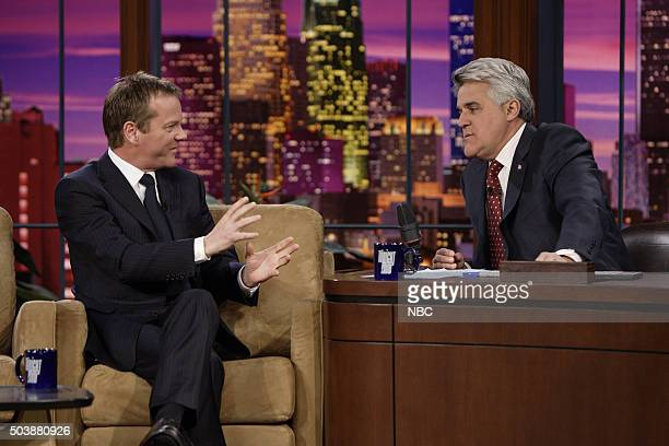 Actor Kiefer Sutherland during an interview with host Jay Leno on January 8 2007