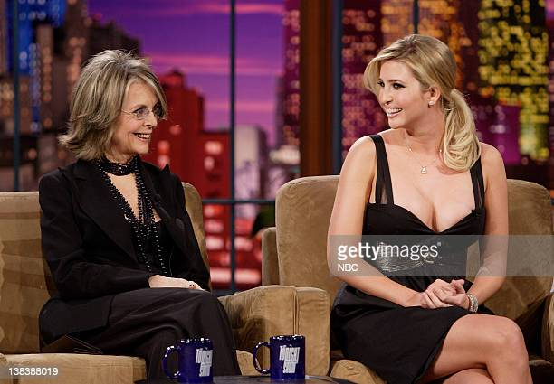 Actress/director Diane Keaton and television personality Ivanka Trump during an interview on January 30 2007
