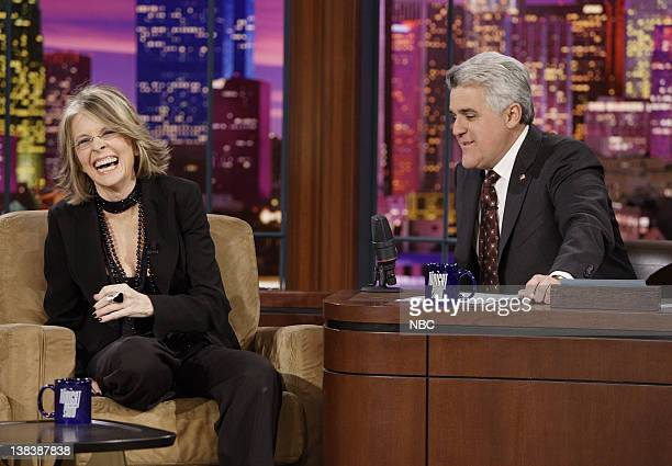 Actress/director Diane Keaton during an interview with host Jay Leno on January 30 2007