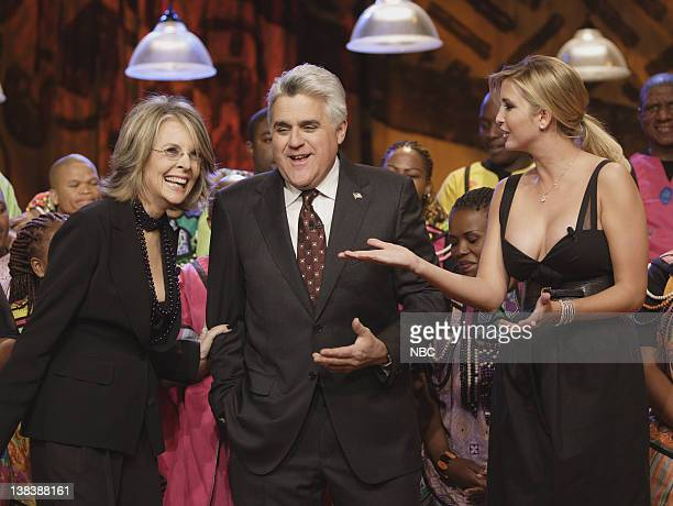 Actress/director Diane Keaton host Jay Leno and television personality Ivanka Trump with musical guest Soweto Gospel Choir on January 30 2007